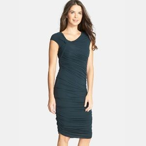 Bailey 44 Ski Bunny Cap Sleeve Jersey Ruched dres
